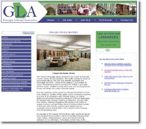 GA Library Assn website