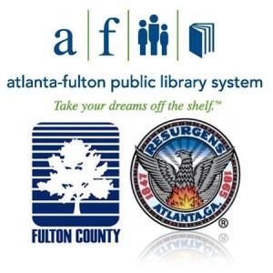 Atlanta Fulton Library logos