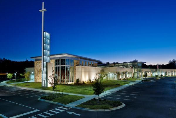 kroc center at night