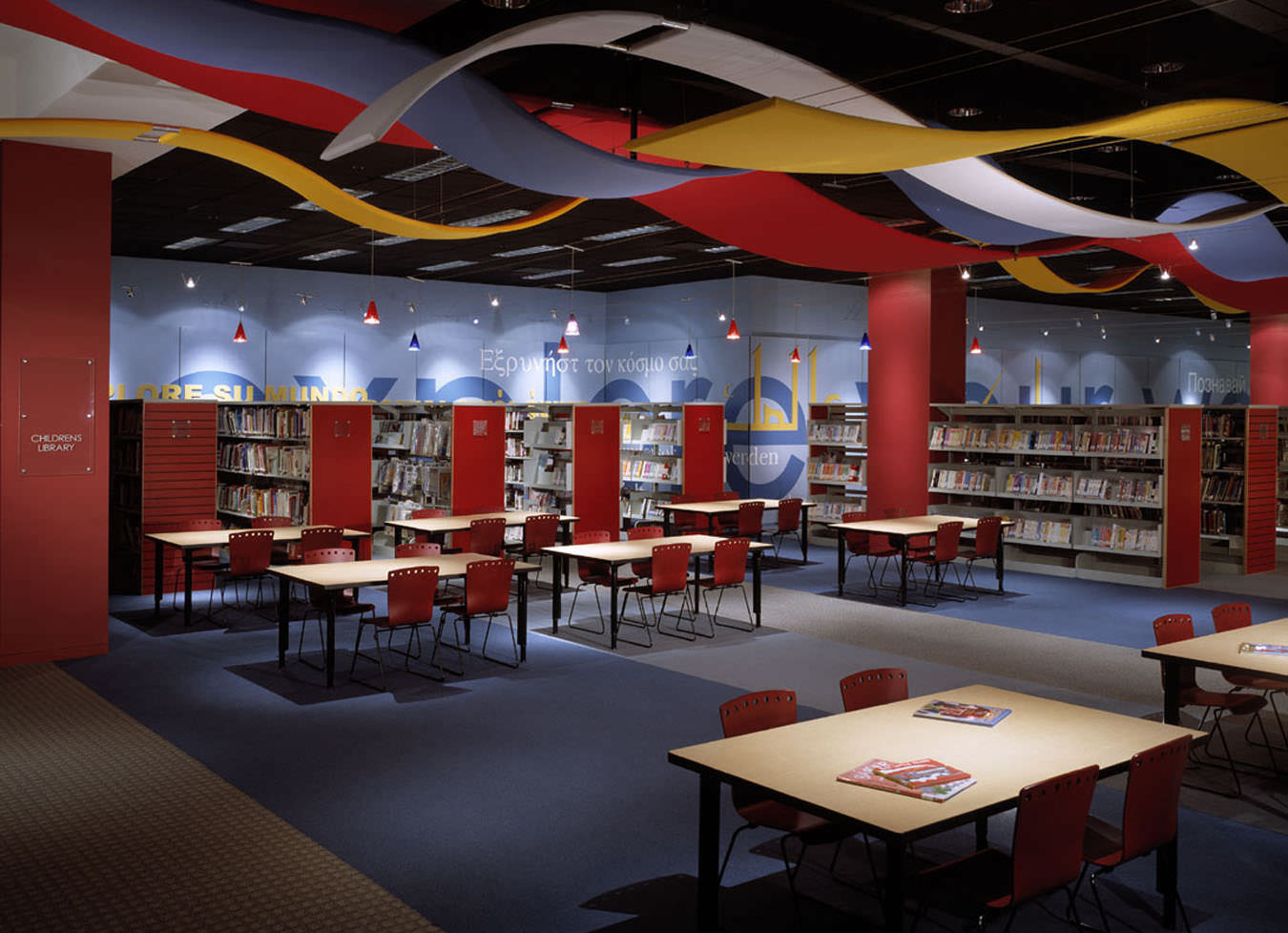 Hughes Main Library, Greenville County Library System, Interior Design